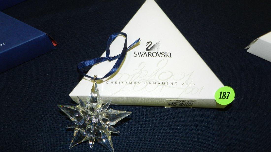 187: great marked Swarovski crystal Christmas Snowflake