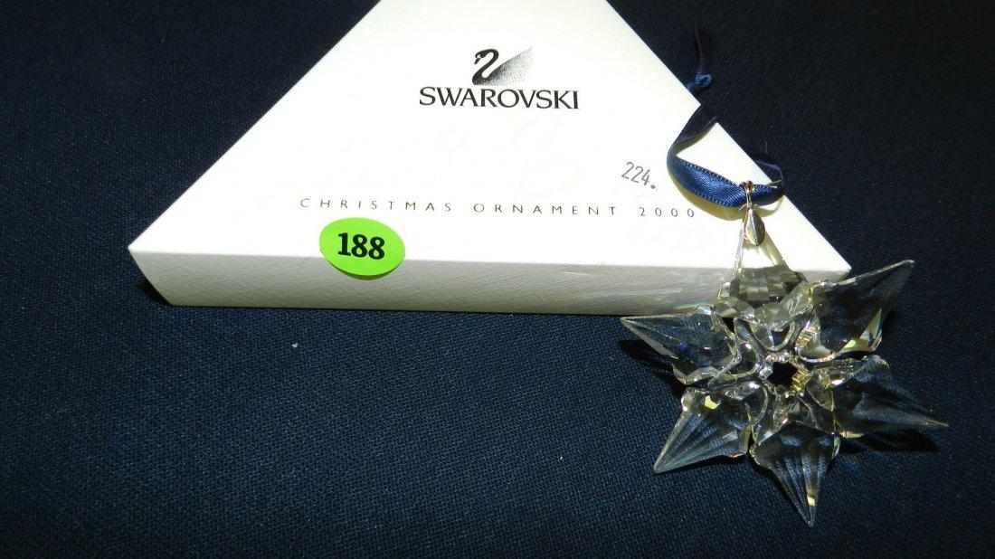 188: great marked Swarovski crystal Christmas Snowflake