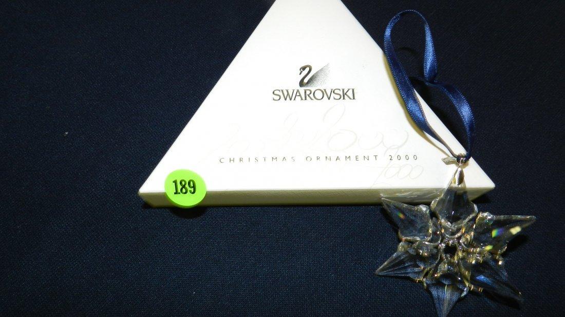 189: great marked Swarovski crystal Christmas Snowflake
