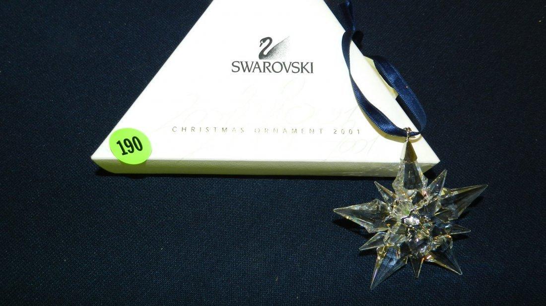 190: great marked Swarovski crystal Christmas Snowflake