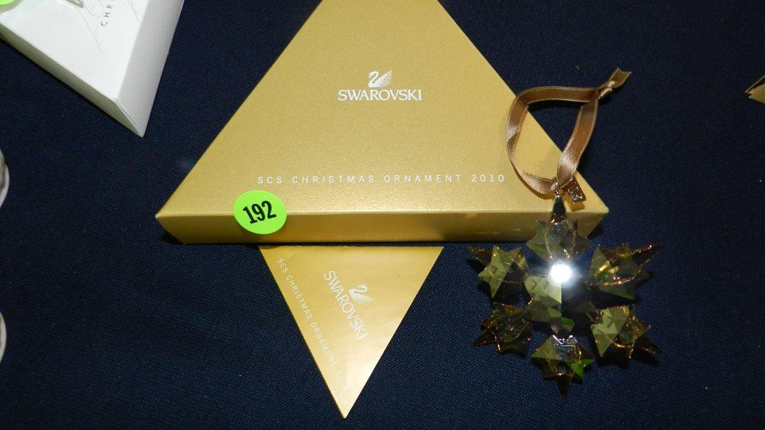 192: great marked Swarovski crystal Christmas Snowflake