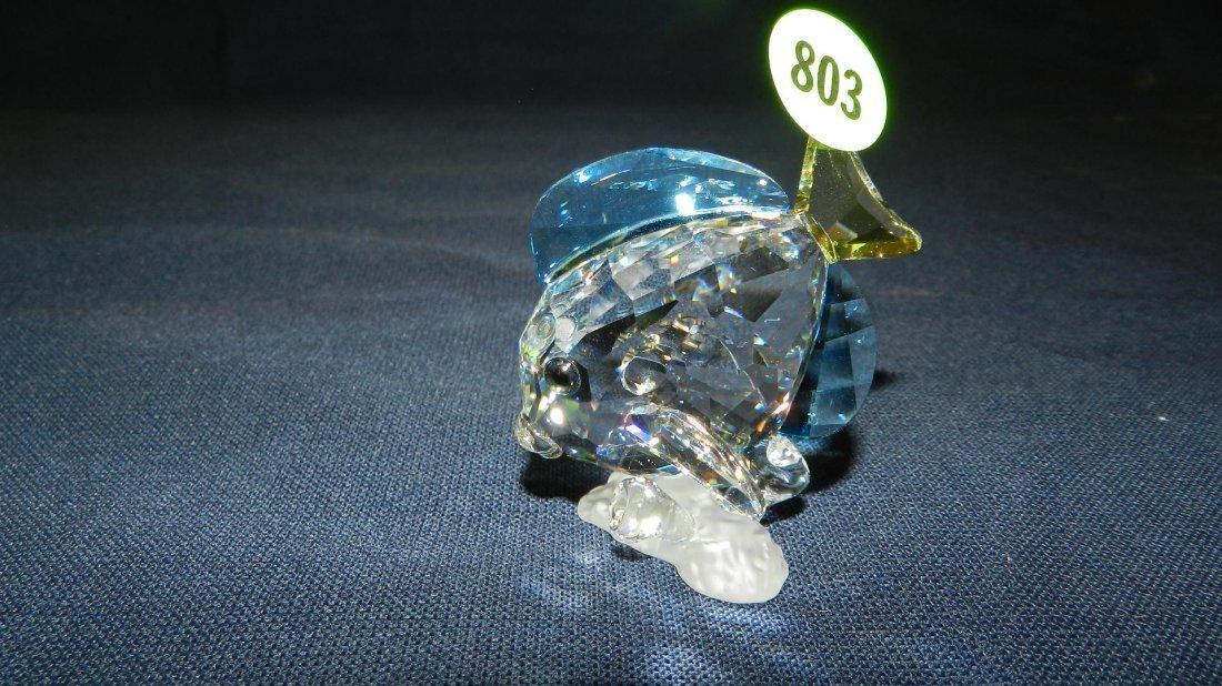 803: great stamped Swarovski crystal fish figurine