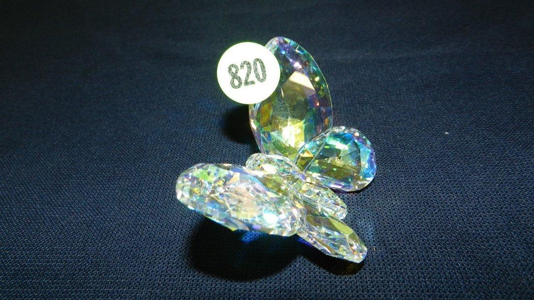 820: great stamped Swarovski crystal butterfly figurine