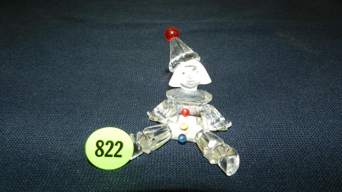 822: great stamped Swarovski crystal clown figurine