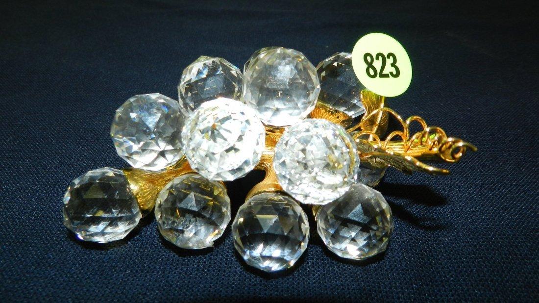 823: great stamped Swarovski crystal grapes figurine
