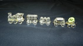 Great Stamped Swarovski Crystal Train Set Figurine