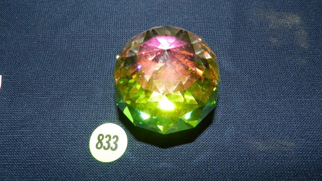 833: great stamped Swarovski crystal colored diamond?