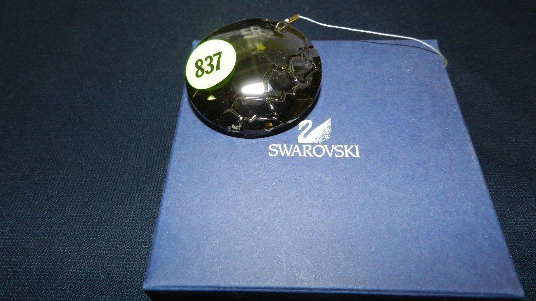 837: great stamped Swarovski ornament