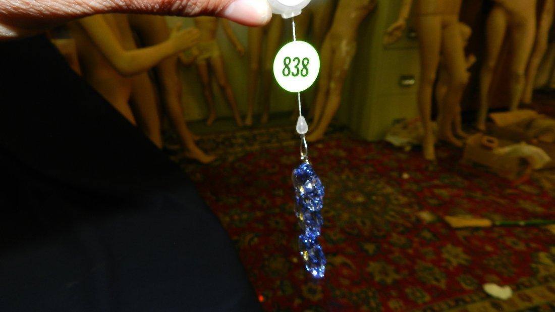 838: great stamped Swarovski ornament