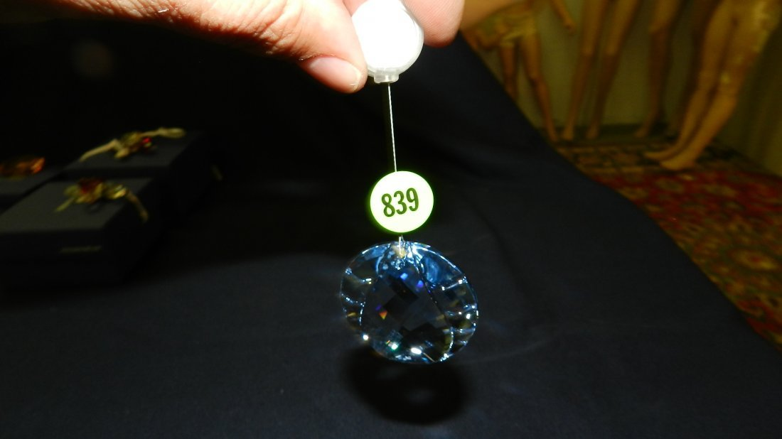 839: great stamped Swarovski ornament