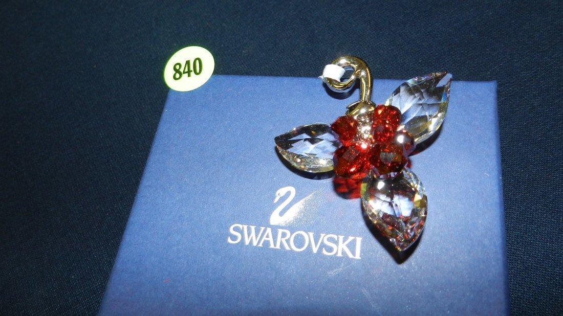 840: great stamped Swarovski ornament