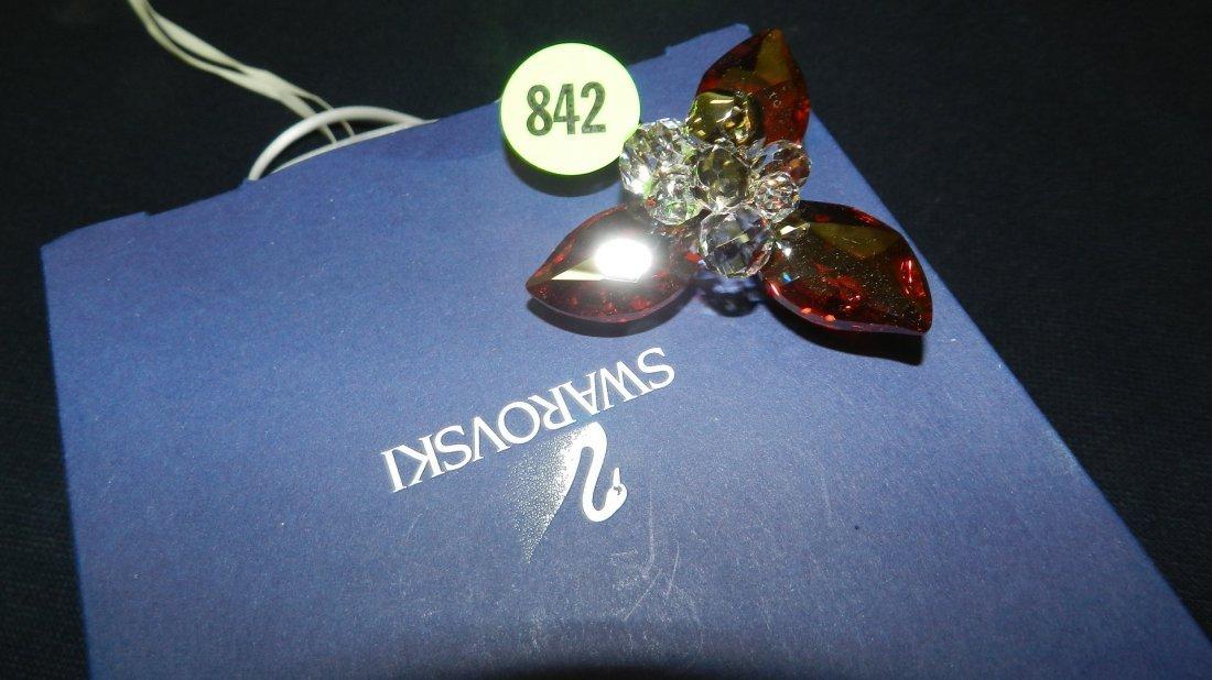 842: great stamped Swarovski ornament
