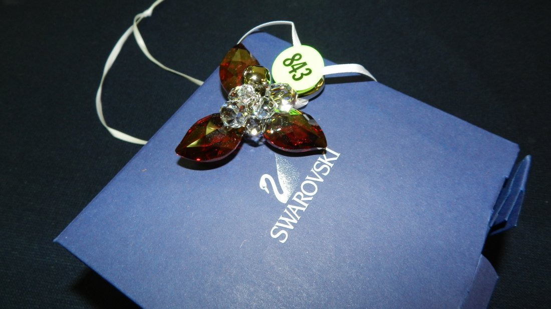 843: great stamped Swarovski ornament
