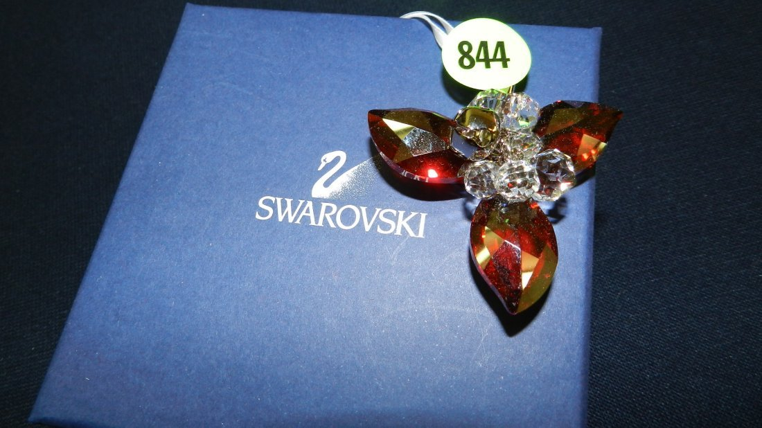 844: great stamped Swarovski ornament