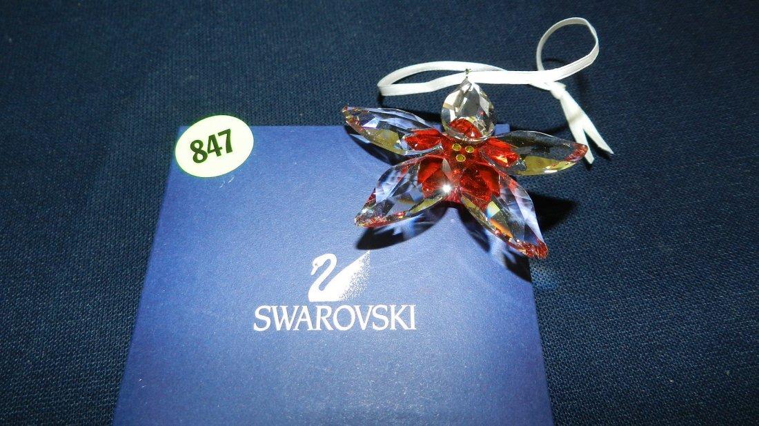 847: great stamped Swarovski ornament