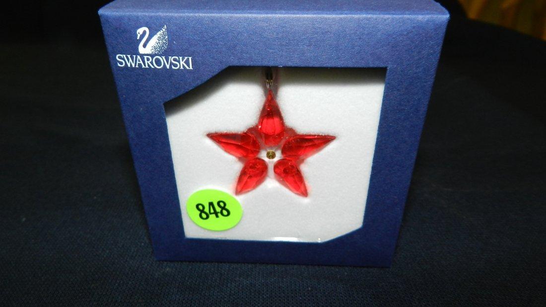 848: great stamped Swarovski ornament