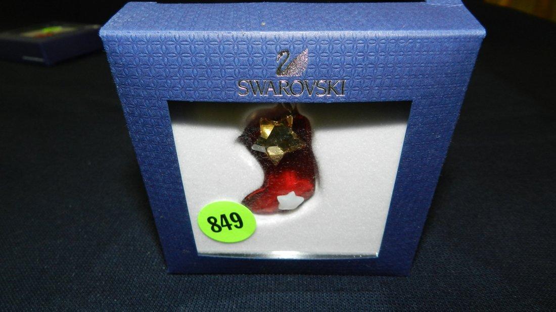 849: great stamped Swarovski ornament
