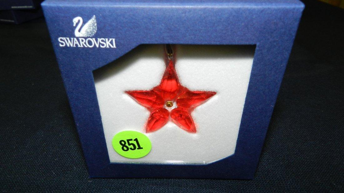 851: great stamped Swarovski ornament