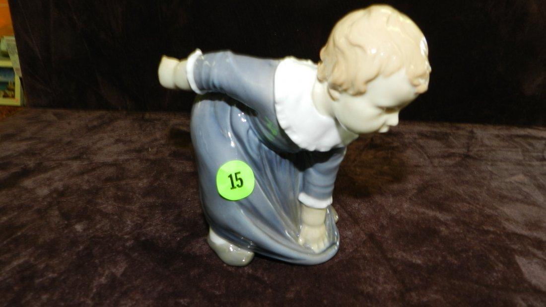 15: porcelain B&G boy figurine