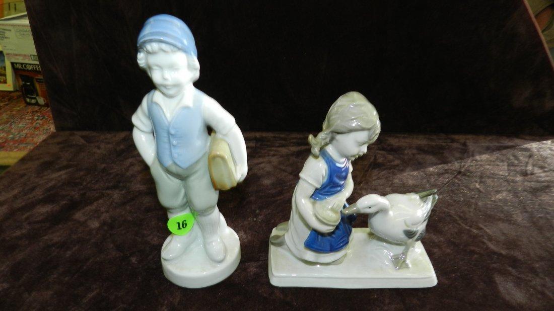 16: 2 piece porcelain figurines
