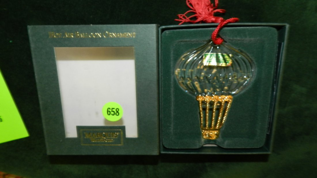 658: nice Waterford Christmas ornament in box