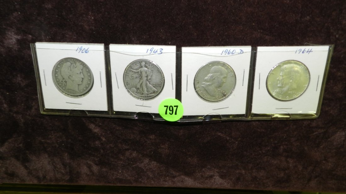 797: nice selection of US coins, various halves
