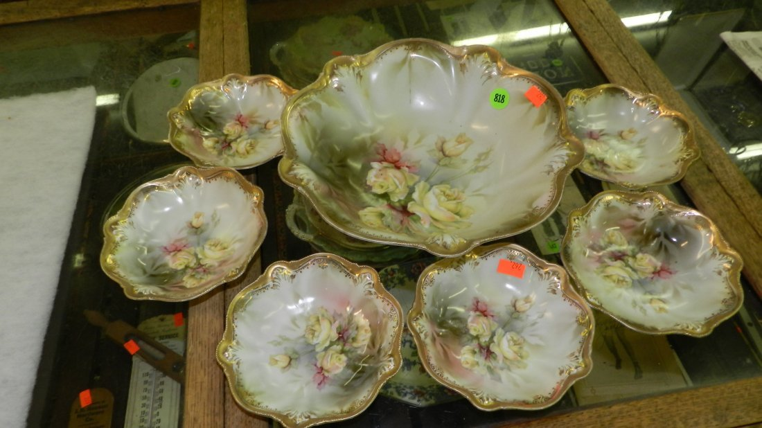 818: super, signed R S Prussia berry bowl set