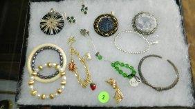 2: nice tray of estate jewelry (no tray)