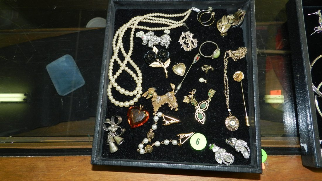 6: nice tray of estate jewelry (no tray)
