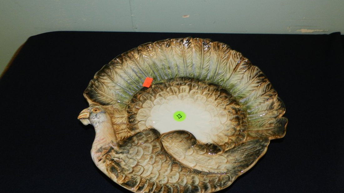 13: porcelain turkey shaped platter