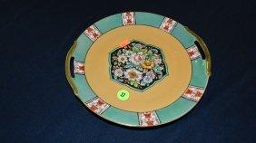 17: painted porcelain lusterware plate