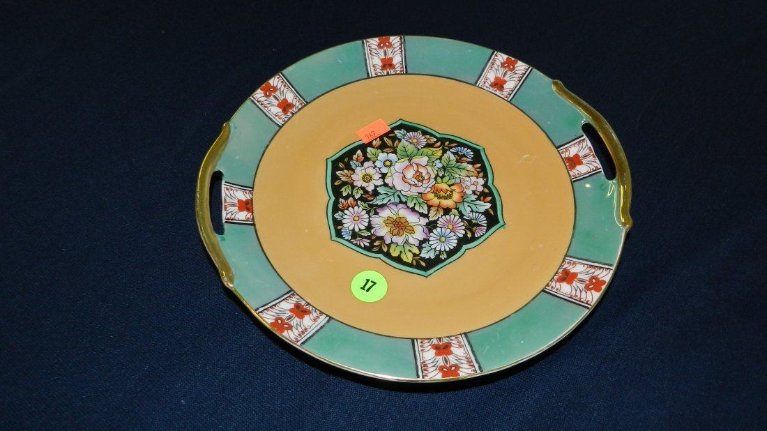 17: painted porcelain lusterware plate