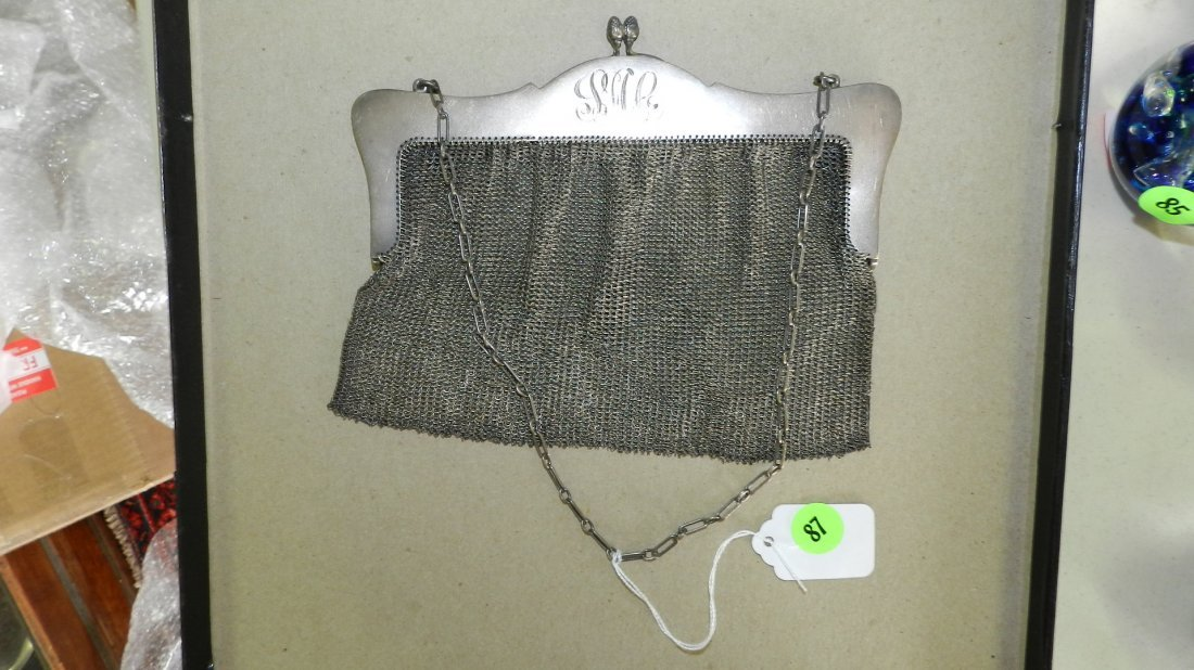 87: lovely sterling silver mesh purse