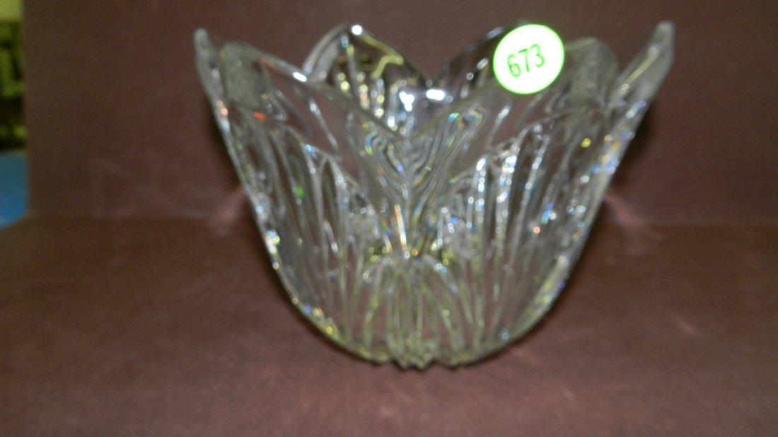 673: marked Waterford crystal bowl