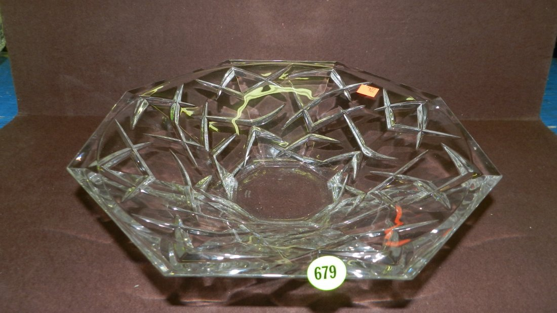 679: marked Waterford crystal bowl
