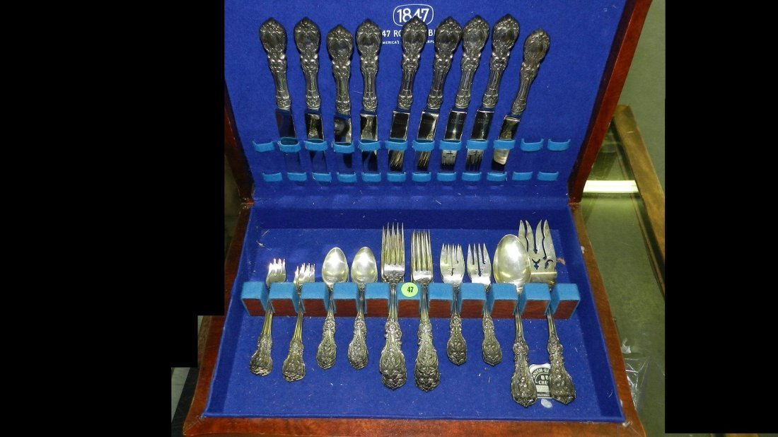 47: stunning sterling flatware by Reed & Barton Francis