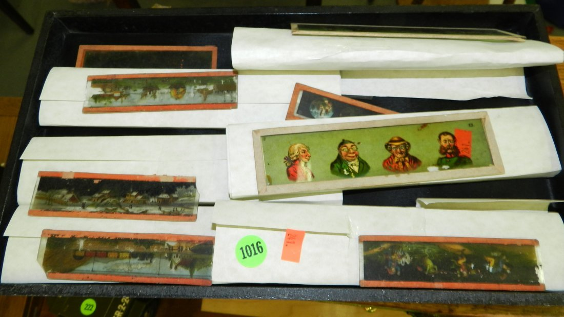 1016: collection of glass magic lantern colored slides