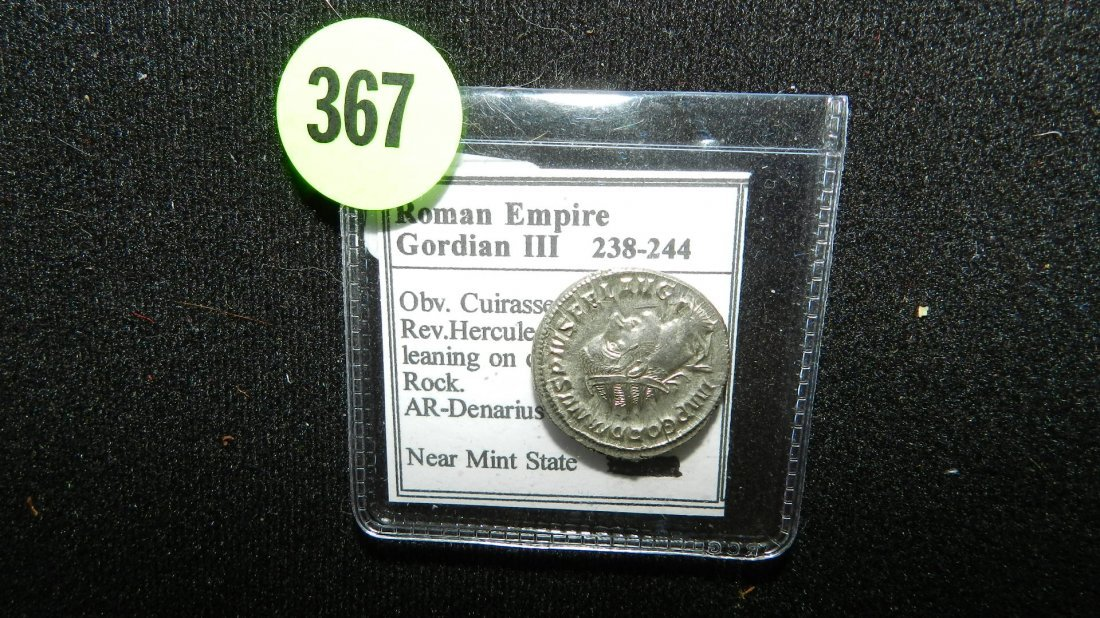 367: Ancient Rome Emperor GORDIAN III 238-244 AD (silve