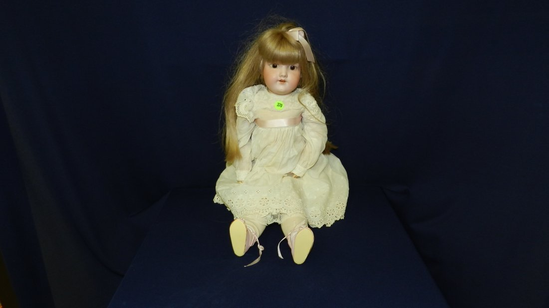 370: lovely antique A & M bisque head doll # 390 for ma