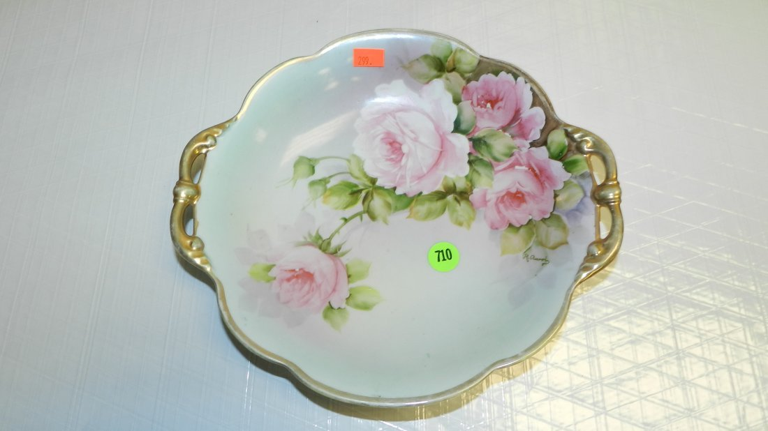 710: hand painted Nippon roes dish