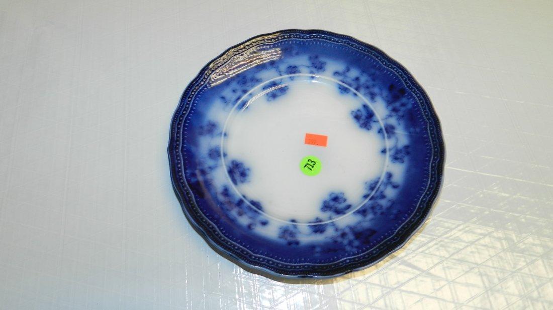 713: lovely flow blue plate