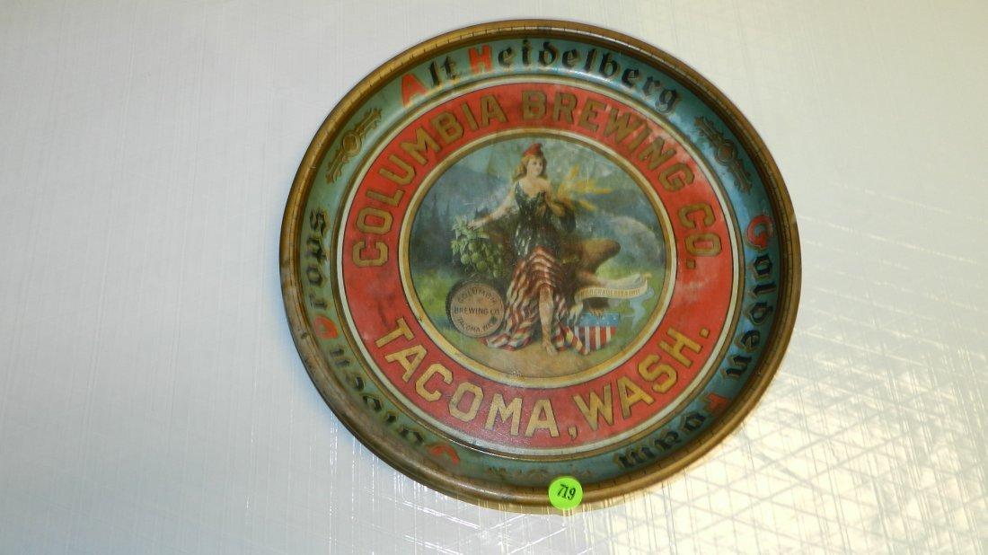 719: vintage Columbia Brewing Tacoma Wa beer tray