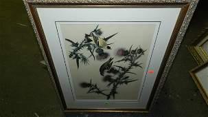 136: John J. Audubon marked ,framed and matted bird & f