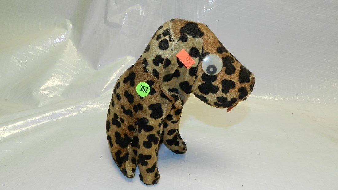 352: vintage toy stuffed dog