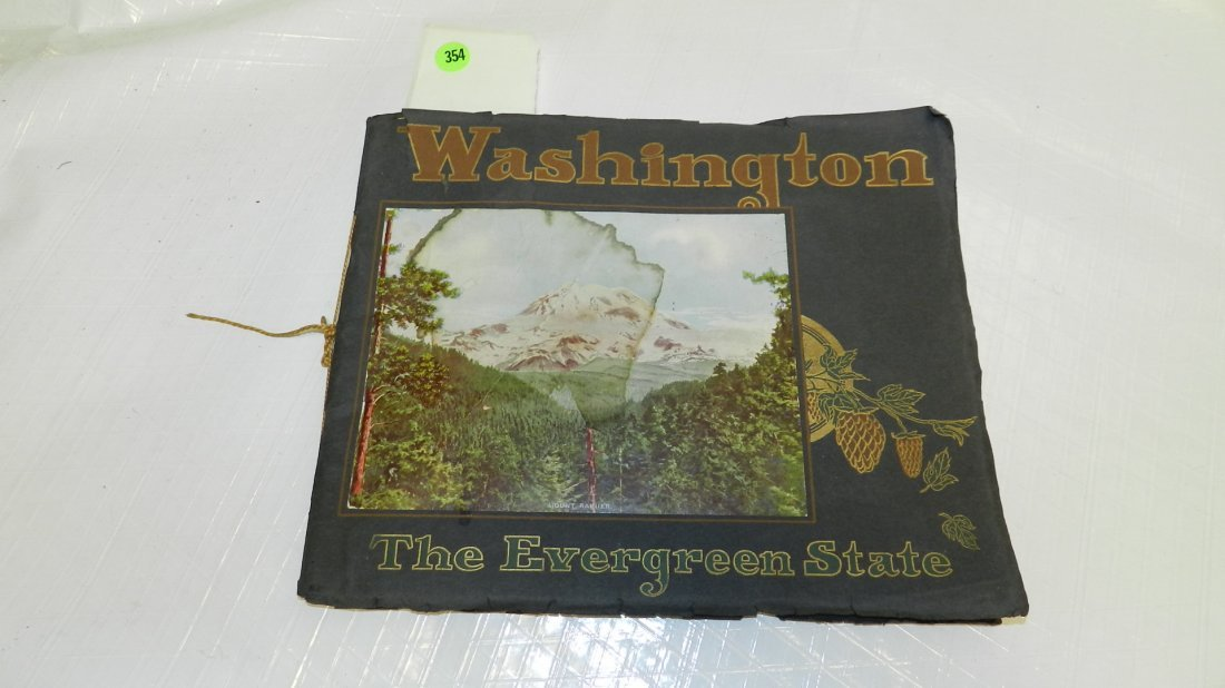 354: vintage Wasington state booklet with prints, as se