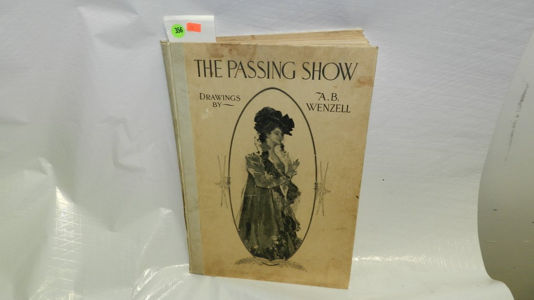 356: vintage A.B. Wenzell drawing book