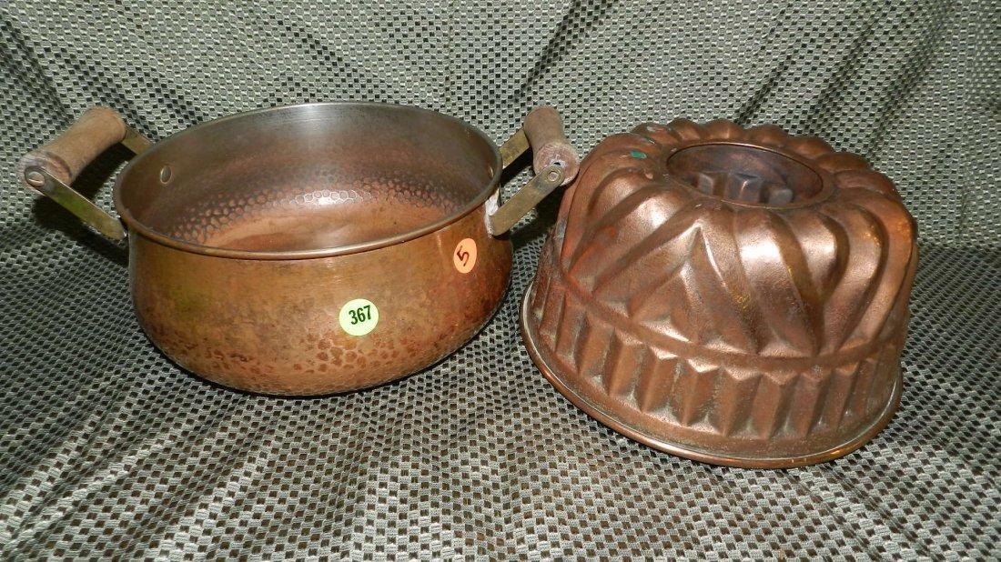 367: 2 piece copper pots