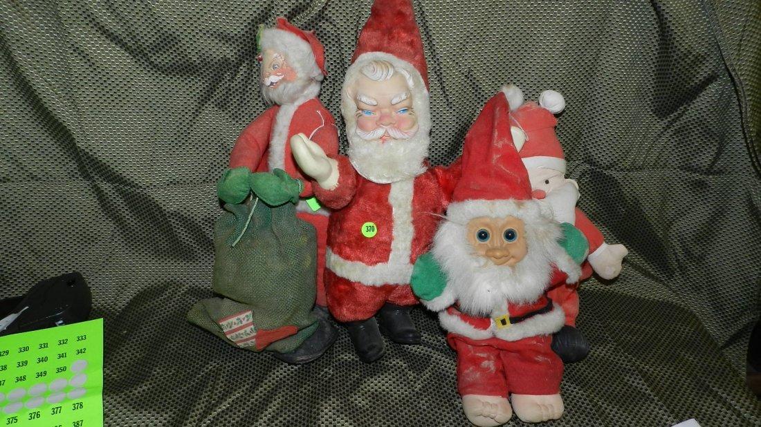 370: group of vintage Santa dolls