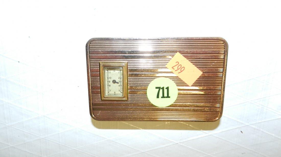 711: deco ladies clock compact