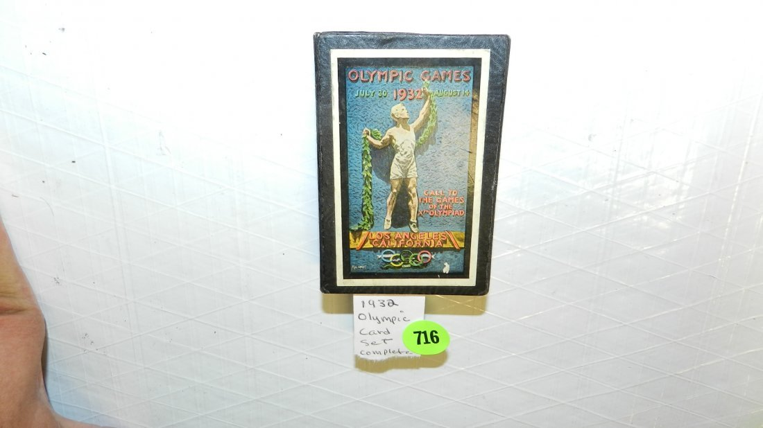 716: 1932 Olympic games playing cards complete